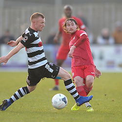TELFORD COPYRIGHT MIKE SHERIDAN James McQuilkin of Telford during the Vanarama Conference North fixture between Darlington and AFC Telford United at Blackwell Meadows on Saturday, November 30, 2019.<br /> <br /> Picture credit: Mike Sheridan/Ultrapress<br /> <br /> MS201920-032