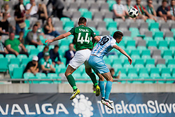 Dino Stiglec of NK Olimpija Ljubljana and Tilen Nagode of ND Gorica during football match between NK Olimpija Ljubljana and ND Gorica in Round #29 of Prva liga Telekom Slovenije 2017/18, on April 29, 2018 in SRC Stozice, Ljubljana, Slovenia. Photo by Urban Urbanc / Sportida