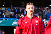 Bernd Leno of Arsenal (19) walks out onto the pitch during the Premier League match between Huddersfield Town and Arsenal at the John Smiths Stadium, Huddersfield, England on 9 February 2019.