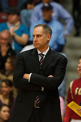 Jan 21, 2012; Santa Clara CA, USA;  Santa Clara Broncos head coach Kerry Keating on the sidelines against the St. Mary's Gaels during the first half at the Leavey Center.  Mandatory Credit: Jason O. Watson-US PRESSWIRE