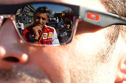 06.09.2014, Autodromo di Monza, Monza, ITA, FIA, Formel 1, Grand Prix von Italien, Qualifying, im Bild Marco Mattiacci (ITA) Ferrari Team Principal reflected in sunglasses. // during the Qualifying of Italian Formula One Grand Prix at the Autodromo di Monza in Monza, Italy on 2014/09/06. EXPA Pictures © 2014, PhotoCredit: EXPA/ Sutton Images/ Lundin<br /> <br /> *****ATTENTION - for AUT, SLO, CRO, SRB, BIH, MAZ only*****