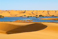 Maroc. Grand Sud. Laayoune. Desert et lagune dans les environs de la ville. Ancien Sahara espagnol. // Morocco. South Morocco. Laayoune. Desert an laguna around the city. Former Spanish Sahara.