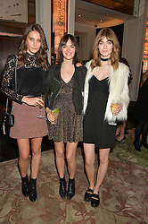 Left to right, SAM ROLLINSON, CHARLOTTE WIGGINS and EVE DELF at the IWC Schaffhausen hosted Private Screening of The Lobster In Celebration Of The BFI - before the screening a drinks reception was held at The Langham Hotel, London on 15th October 2015.