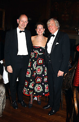 The British Antiques Dealers Association's Biennial Banquet held at Armoury House, HAC, City Road, London EC1 on 25th November 2004.<br />Picture shows left to right, CHRISTOPHER CLAXTON STEVENS, SANDRA CRONAN and EDWARD TWINBERROW.