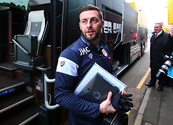 Bristol City assistant head coach Jamie McAllister arrives at Vicarage Road for the FA Cup third round tie against Watford - Mandatory by-line: Robbie Stephenson/JMP - 06/01/2018 - FOOTBALL - Vicarage Road - Watford, England - Watford v Bristol City - Emirates FA Cup third round proper
