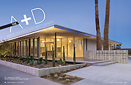Desert Magazine feature story about Palm Springs Art Museums new Architecture and Design Center. Center housed in E. Stewart Williams designed building.