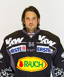 29.08.2012, Messestadion, Dornbirn, AUT, EBEL, Spielerportraits, Dornbirner Eishockey Club, im Bild Hannes Enzenhofer, (Dornbirner Eishockey Club, #34)// during Dornbirner Eishockey Club Player Portrait Session at the Messestadion, Dornbirn, Austria on 2012/08/29, EXPA Pictures © 2012, PhotoCredit: EXPA/ Peter Rinderer