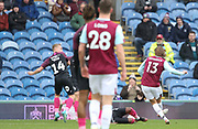 Jeff Hendrick of Burnley shoots to score the 3-0 during the The FA Cup match between Burnley and Peterborough United at Turf Moor, Burnley, England on 4 January 2020.