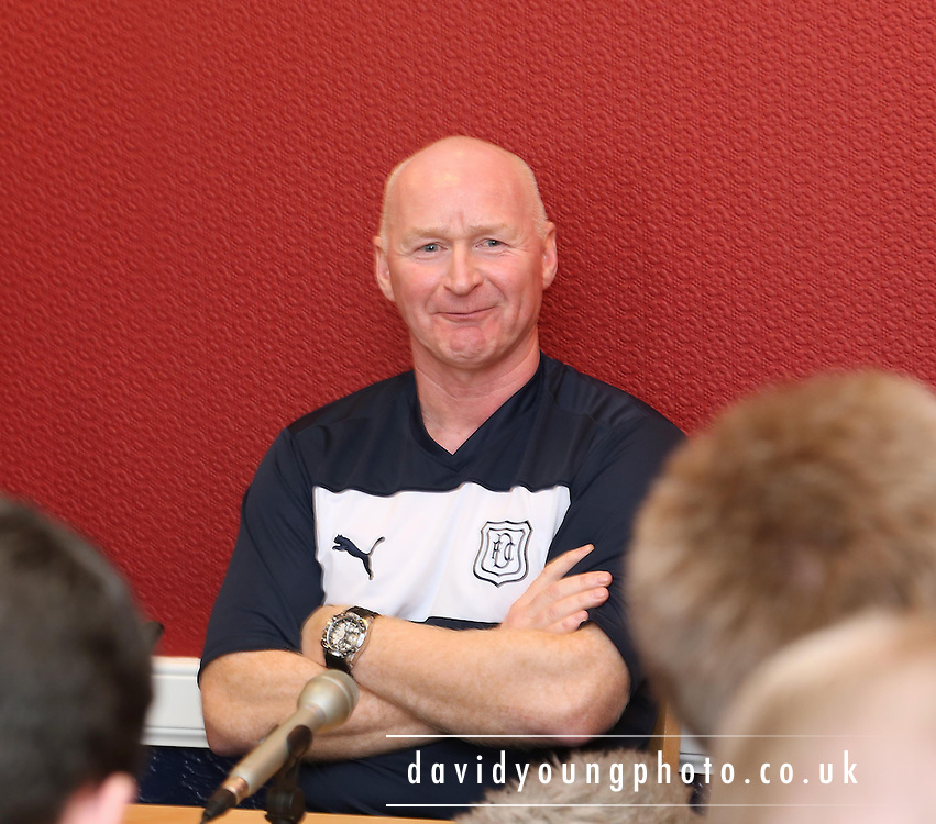 John Brown appointed interim manager at Dundee Football Club - press conference at Dens Park .. - © David Young - www.davidyoungphoto.co.uk - email: davidyoungphoto@gmail.com