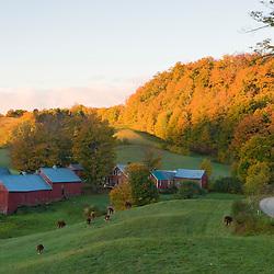 The Jenne Farm in Woodstock, Vermont.  Fall.