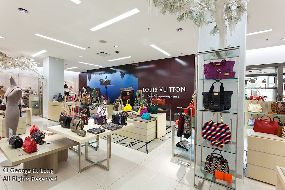 Saks Fifth Avenue first floor interiors of handbags for Prada