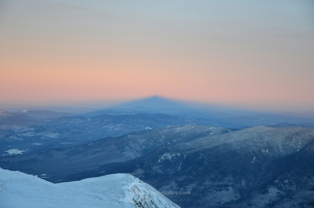 Mount Washington's shadow at sunset.