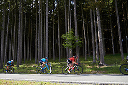 Floortje Mackaij (NED) and Gloria Rodriguez (ESP) in the trees at Lotto Thüringen Ladies Tour 2019 - Stage 2, a 116 km road race in Schleiz, Germany on May 29, 2019. Photo by Sean Robinson/velofocus.com