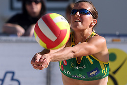 Tjasa Dimec (Armal Team) at qualifications for 14th National Championship of Slovenia in Beach Volleyball and also 4th tournament of series TUSMOBIL LG presented by Nestea, on July 25, 2008, in Kranj, Slovenija. (Photo by Vid Ponikvar / Sportal Images)/ Sportida)