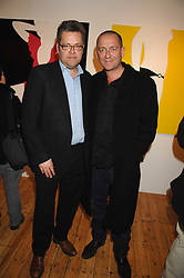 Left to right, CHARLIE PHILLIPS and actor SEAN PERTWEE at an exhibition of artist Natasha Law's work entitled 'Room' hosted by the Eleven gallery in association with Ruinart champagne at 121 Charing Cross Road, London WC2 on 16th January 2008.  Following the private view a dinner was held at Soho House hosted by Ruinart.<br /> <br />  (EMBARGOED FOR PUBLICATION IN UK MAGAZINES UNTIL 1 MONTH AFTER CREATE DATE AND TIME) www.donfeatures.com  +44 (0) 7092 235465