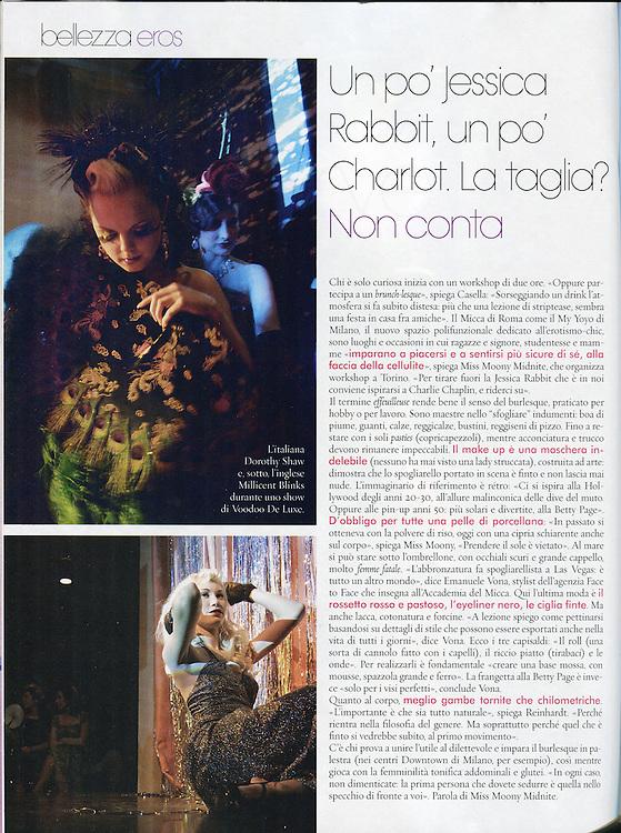 "A magazine © Zoe Vincenti, ""Burlesque Voodoo"" 2010"
