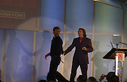 Chris Martin and Jonathan Ross. .  The Q Awards, the  magazine's annual music awards,  Grosvenor House. October 10 2005. ONE TIME USE ONLY - DO NOT ARCHIVE © Copyright Photograph by Dafydd Jones 66 Stockwell Park Rd. London SW9 0DA Tel 020 7733 0108 www.dafjones.com