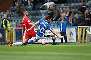 GOAL Ian Henderson scores for Rochdale 1-0 during the EFL Sky Bet League 1 match between Rochdale and Gillingham at Spotland, Rochdale, England on 23 September 2017. Photo by Daniel Youngs.