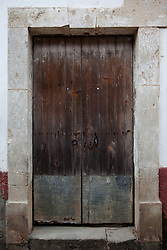 """Door 1"" - This old wooden door was photographed in the small mountain town of San Sebastian, Mexico."