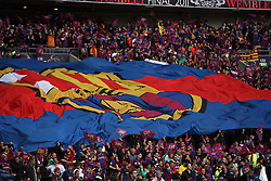 28-05-2011 VOETBAL: CHAMPIONS LEAGUE FINAL FC BARCELONA - MANCHESTER UNITED: LONDON<br /> Barcelona support flag<br /> ***NETHERLANDS ONLY***<br /> ©2011- FotoHoogendoorn.nl/nph/M. Pozzetti