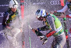 March 9, 2019 - Kranjska Gora, Kranjska Gora, Slovenia - Henrik Kristoffersen (R) and Rasmus Windingstad (L) of Norway celebrating at the Audi FIS Ski World Cup Vitranc on March 8, 2019 in Kranjska Gora, Slovenia. (Credit Image: © Rok Rakun/Pacific Press via ZUMA Wire)