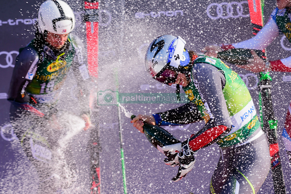 March 9, 2019 - Kranjska Gora, Kranjska Gora, Slovenia - Henrik Kristoffersen (R) and Rasmus Windingstad (L) of Norway celebrating at the Audi FIS Ski World Cup Vitranc on March 8, 2019 in Kranjska Gora, Slovenia. (Credit Image: © Rok Rakun/Pacific Press via ZUMA Wire)
