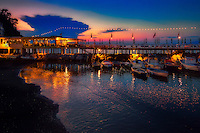 """Dolphin restaurant at sunset on Marina Grande Sorrento""…<br />