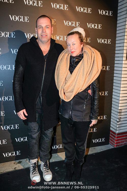 NLD/Amsterdam/20130314 - 1 jarig bestaan magazine Voque Nederland , Ilja Visser en partner ?..
