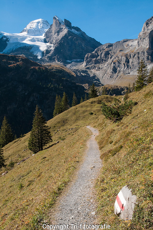 Wanderweg zwischen Hotel Obersteinberg und Oberhornsee in das hinteren Lauterbrunnental
