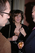 Petronella Wyatt. andrew Roberts and Leonie Frieda celebrate the publication of Andrew's 'Waterloo: Napoleon's Last Gamble' and the paperback of Leonie's 'Catherine de Medic'i. English-Speaking Union, Dartmouth House. London. 8 February 2005. ONE TIME USE ONLY - DO NOT ARCHIVE  © Copyright Photograph by Dafydd Jones 66 Stockwell Park Rd. London SW9 0DA Tel 020 7733 0108 www.dafjones.com