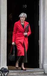 © Licensed to London News Pictures. 13/11/2017. London, UK. Prime Minister Theresa May leaves 10 Downing Street. Photo credit: Rob Pinney/LNP