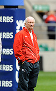 """Twickenham. Great Britain, England Head Coach,  Brian ASHTON, watches his team in the pre game training session at the RFU Stadium, before the  Six Nations Rugby match, England vs Ireland,  15.03.2008  [Mandatory Credit. Peter Spurrier/Intersport Images]"""""""