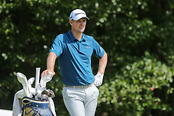 September 2, 2018 - Norton, Massachusetts, United States - Justin Rose waits on the 4th tee during the third round of the Dell Technologies Championship. (Credit Image: © Debby Wong/ZUMA Wire)