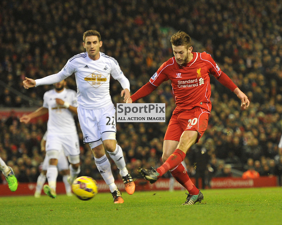 Adam Lallana scores<br /> .....(c) Angie Isac | SportPix.org.uk