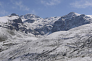 Turkey, Pontic Mountains range, panorama of snow covered peaks