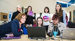 Pictured: Ms Watt joined Sarah Taylor, Research Nurse TEC project and BEAT Ambassadoe Ballari Conner on the laptops<br /> Today Mental Health Minister Maureen Watt vsiisted the Royal Hospital in Edinburgh to help aunch the online resource aimed at young people in this Eating Disorders Awareness Week, While thee she met two two Beat ambassadors, Constance Barter and Ballari Conner<br /> <br /> Ger Harley | EEm 28 Fbruary 2018