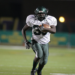 07 November 2008:  Ponchatoula Green Wave RB Jacques West (#39) The Ponchatoula Green Wave defeated District 7-5A rival the Hammond Tornados 34-13 at Strawberry Stadium in Hammond, LA . The Green Wave with the win clinched a spot in the 2008 playoffs.