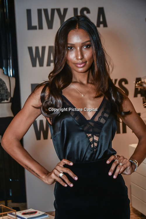 Supermodel and Angel Jasmine Tookes visits Victoria's Secret New Bond Street, alongside LIVY founder, Lisa Chavy to celebrate Victoria's Secret introducing LIVY on 20 Feb 2019, London, UK.