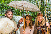 Katie Piper with Norse 'gods' on the Viging Cruises Garden - RHS Chelsea Flower Show, Chelsea Hospital, London UK, 18 May 2015.