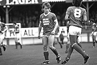 Gary Higgins, footballer, Cliftonville FC, Belfast, N Ireland, UK, 19850811GH.<br /> <br /> Copyright Image from Victor Patterson, 54 Dorchester Park, Belfast, UK, BT9 6RJ<br /> <br /> t1: +44 28 9066 1296 (from Rep of Ireland 048 9066 1296)<br /> t2: +44 28 9002 2446 (from Rep of Ireland 048 9002 2446)<br /> m: +44 7802 353836<br /> <br /> victorpattersonbelfast@gmail.com<br /> victorpatterson@me.com<br /> <br /> www.victorpatterson.com<br /> <br /> Please see my Terms and Conditions of Use at https://www.victorpatterson.com/page2<br /> It is IMPORTANT that you familiarise yourself with them.<br /> <br /> Images used on the Internet incur an additional cost and must be visibly watermarked i.e. © Victor Patterson within the body of the image and copyright metadata must not be deleted. Images used on the Internet have a size restriction of 4kbs and are chargeable at rates available at victorpatterson.com.<br /> <br /> This image is available only for the use of the download recipient i.e. television station, newspaper, magazine, book publisher, etc, and must not be passed on to any third party. It is also downloaded on condition that each and every usage is notified within 7 days to victorpatterson@me.com<br /> <br /> The right of Victor Patterson (or the named photographer) to be identified as the author is asserted in accordance with The Copyright Designs And Patents Act (1988). All moral rights are asserted.