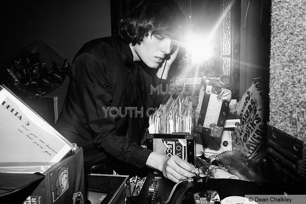 Rhys 'Spider' Webb of The Horrors DJing at the Junk Club, Southend, 2006.