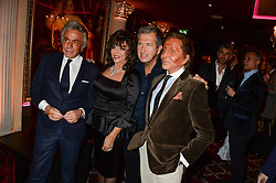 Left to right, GIANCARLO GIAMMETTI, JOAN COLLINS, MARIO TESTINO and VALENTINO GARAVANI at a party to celebrate the publication of 'Passion for Life' by Joan Collins held at No41 The Westbury Hotel, Mayfair, London on21st October 2013.