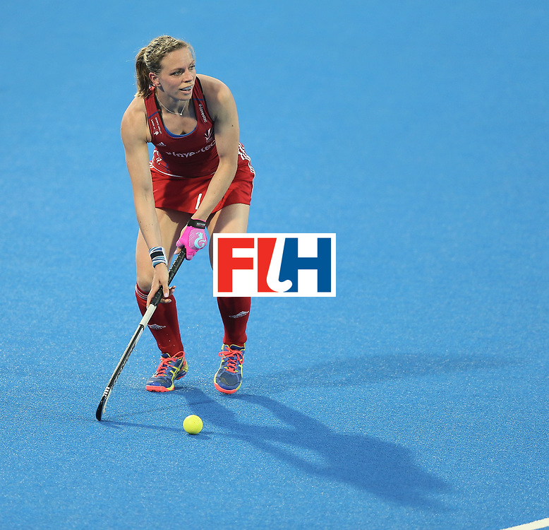 LONDON, ENGLAND - JUNE 21: Kate Richarson-Walsh of Great Britain during the FIH Women's Hockey Champions Trophy match between New Zealand and Great Britain at Queen Elizabeth Olympic Park on June 21, 2016 in London, England.  (Photo by Alex Morton/Getty Images)