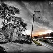 Sheffield Cemetery at Sunrise in Kansas City, Missouri