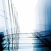 glass facade of a modern building by means of reduced visibility.