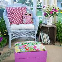 Crate Footstool & Side table