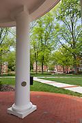 Bush Hall entrance on the East Green at Ohio University campus..  Photo by Ohio University / Jonathan Adams