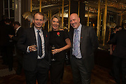 ANDREW MARR; ANNALIES VAN DEN BELT; JEFF JAMES The launch of the 1939 Register, hosted by The National Archives and Findmypast to celebrate one of the most important documents in modern British history. POMPADOUR BALLROOM, HOTEL CAFÉ ROYAL<br /> 68 Regent Street, London. 3 November 2015