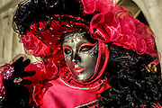 Venice Carnival Mask in red