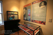 Display exhibits memorabilia of author Truman Capote in Monroe County courthouse in his hometown of Monroeville, Alabama.